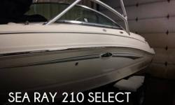 Actual Location: Havre, MT - Stock #081237 - If you are in the market for a bowrider, look no further than this 2009 Sea Ray 210 Select, just reduced to $32,500 (offers encouraged).This boat is located in Havre, Montana and is in great condition. She is