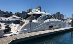Our recent trade. One-owner, 100% freshwater, boasting bow and stern thrusters, cockpit heat and air, DSS, Hydraulic platform, larger 900MAN engines, and in very nice shape! Trades considered. ELECTRICAL BATTERY BATTERY CHARGER BATTERY SWITCH CENTRAL VAC