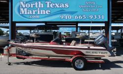 2009 SKEETER SX180 When it comes to crossing rogue wakes and handling tight turns, no other bass boat performs like a Skeeter. The sophisticated design and practical application of the SX180 make it an excellent choice for smart anglers who want