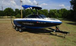 Mercruiser 5.7 MPI Fuel Injected 350 c.i. V8 Engine, 315 HP, 391 Hours, V-drive, Tower w/ Bimini Top, Bow & Cockpit Covers, Ballast System, Perfect Pass Cruise Control, Hydraulic Wake Plate, Tilt Steering Wheel, Built-in Cooler, Play-pen Style Bow
