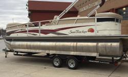 2009 Sun Tracker Party Barge 25 with Mercury 115 hp and custom trailer! Includes cover, bimini top, and depth finder! Nominal Length: 25' Length Overall: .1' Engine(s): Fuel Type: Other Engine Type: Outboard Beam: 0 ft. 1 in. Stock number: 1041974