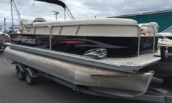 2009 Sylvan 8522 Mirage Sport This pontoon package includes a stereo, lifevests, bimini top, full boat cover, anchor, tube, port-o-poti, BBQ, Minn Kota bow mount trolling motor, a Mercury fourstroke 150hp outboard w/stainless prop and a EZ Loader