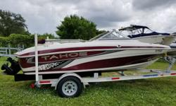 2009 Tahoe Boats Q4, Located in Nokomis, FL. Call Coastal Marine for more information. Sporty looking bowrider With much sought after Mercruiser 3.0 motor, both powerful & economical to run, ski hook, bimini, beautiful interior with dual captain's chairs,