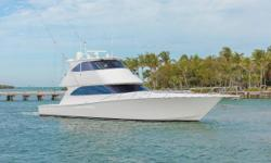 Will be on display at the Palm Beach Boat Show - Ramp 9. EXTENDED CATERPILLAR PLATINUM WARRANTY UNTIL MAY 2019  New to the market. CAMILLE features 3 staterooms and a very large salon/galley/dining area. The aft bridge steering station allows ease of