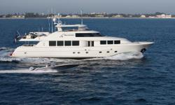 Immaculate condition! SECOND LOVE is truly the most highly customized 112' Westport built to date. Her custom Robin Rose interior features several upgrades to include custom cherry joinery, onyx stonework and newly designed improvements to her layout. She