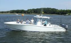 FOR QUESTIONS CONTACT: CURTIS 904.626.5364 or CHEnglert@allfr8.com 2009 Yellowfin 36 EQUIPMENT: -White with blue boot strip -Triple 250 Yamaha Four Strokes -Coffin Box dual ram arms (replaced 2015) -Customized oversized crows nest -Forward seating -Toilet