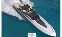 Description (LOCATION: Aventura FL) The new Magnum 100 model presented by Magnum Marine will be Magnum's largest yacht and is expected to be delivered by 2012. The styling was designed by the talented young Italian designer Alberto Mancini and offers a