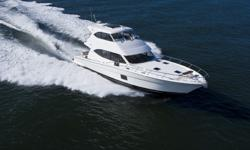 Accommodations The interior is finished in teak with satin varnish throughout. The spacious main deck has Ultraleather seat cushions done in Desert Clay. The flybridge settees are also Ultraleather in Fields.This Maritimo 56 Enclosed Flybridge Motoryacht