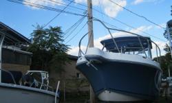"NEW INVENTORY 2010 Atlantic 2700WA This 27 ft Walkaround Fishing Boat is in good condition w/ Twin Yamaha 150 hp 4 stroke motors! This boat comes with: Twin Yamaha 150 hp 4 stroke motors Fiberglass Hardtop w/ Enclosure Raymarine 14"" GPS/FF/DF VHF Radio"