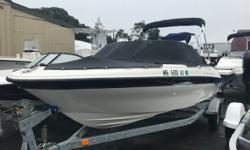 This boat is immaculate! Always trailered and always stored in a garage and it shows! Well Equipped with a Mercury 90hp DFI Optimax, Galvanized Trailer w/Swing Tongue, Bimini Top, Bow Well & Cockpit Cover, GPS/Fish-Finder, Rod-Holders, Flip-Up Bolster