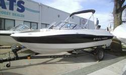 """2010 Bayliner 185BR 18'0"""" bowrider with Mercruiser 4.3l V6 190hp and matching single axle bunk Karavan tariler with brakes. Package includes bimini suntop, travel cover, Dash mount fish /depth finder, stereo with MP3, snap-in carpets, sport seating with"""