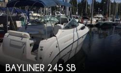 Actual Location: Bainbridge Island, WA - Stock #110271 - This vessel was SOLD on September 2.If you are in the market for a cruiser, look no further than this 2010 Bayliner 245 SB, priced right at $33,400 (offers encouraged).This boat is located in