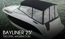 Actual Location: Tacoma, WA - Stock #077999 - Purchased new in 2011 and well taken care of since.The 255 represents boating freedom. This lovely sports cruiser is powered by a single Mercruiser 260hp 5.0L V8 providing dependable economical operation. Not