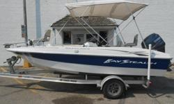 2010 Baystealth Deckliner 183 equipped with Yamaha 115 hp outboard motor and Motor Guide Digital 24 V 82 lbs. thrust trolling motor. Boat includes bimini top, livewell, stereo with 2 speakers, Garmin 400c fish finder, sink, Guest 2 bank battery charger