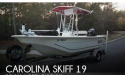 Actual Location: Bolivia, NC - Stock #096909 - Professionally Maintained! Single Owner!CAROLINA SKIFFS ARE A STABLE FISHING PLATFORM AND THEY ARE A GREAT MULTI USE BOAT WITH A LOT OF STORAGE AND ROOM TO MOVE AROUND THE BOAT.THIS BOAT CAN HANDLE HARD