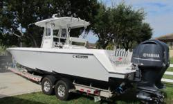 Fishing Machine Warranty On The Motors Until August 2017 Plus Can Buy More Warranty Aluminum Dual Axel Trailer All Redone This Month $6000.00 11/09/2016 Coffin Box Radar 2 GPS Plenty Of Rod Holders Hard Top Power Steering Pop Up Cleats