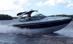 "(LOCATION: Cape Coral FL) The Formula 350 Sun Sport is a full-featured family day cruiser with style, luxurious accommodations, and performance.  This ""like new"" Formula has been meticulously maintained and is priced to sell. She features a large"