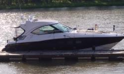 2010 Four Winns V435 -- Fresh Water Vessel with Low Hours on Twin IPS 600 Volvo Diesels -- Only 15 Hours on Generator Loaded with Upgrades: Hydraulic Swim Platform, Satellite TV, Underwater Lights, Cockpit A/C, Washer / Dryer + Much More!! This Vessel