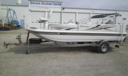 2010 Hurricane 198FD Fish and Ski with Mercury two stroke 150hp EFI and matching custom Tennessee single axle bunk trailer with swing tongue spare tire and load guides. Package includes MinnKota Power Drive 70lb/24V trolling motor, Lowrance X50 fish