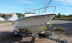 Powered by Yamaha F115 with low hours. Mostly fresh water use. Includes Garmin 441S GPS/FF & VHF radio. Depth finder, fish finder, compass. Standard Key West positive flotation,aft seat with back rest, leaning post, console cooler seat. Trailer included!