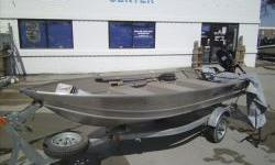 2010 LOWE ANGLER A1457 V-bow aluminum 14ft. john boat with bench seating and Tohatsu 9.hp tiller motor with galvanized single axle bunk trailer. This boat is like new and barely ever used. Package includes travel cover, oars, remote fuel tank, extra prop,