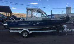 Great Options Mercury 9.9 4-Stroke Kicker with Electric Start Lowrance HDS7 Fish Finder/GPS Minn Kota 24v iPilot Canvas Enclosure Wash-down System AM/FM CD Radio Swim Ladder Bow Cover Columbia River Anchor Mooring Cover Galvanized Trailer Engine(s): Fuel