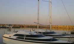 If you are looking for a clean sailboat, this is the boat. The boat is here in Oshkosh and ready for the water. Trades considered. CANVAS COCKPIT COVER/WHEEL COVER (GREY) HELM COVER MAIN SAIL COVER DECK ANCHOR W/LINES BOW PULPIT W/RAIL FILLER CUSHIONS