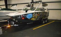 2010 Mastercraft X-35 with low hours! Equipped with surf tabs and an attitude adjustment plate, this X-35 is ready for any watersports activities. Powered by a 6.0L Indmar, this X-35 is ready for you to load her up with all of your friends! Give us a call