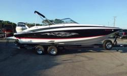 Location: Bolingbrook, IL, US Just reduced by $2,000.00. This boatis equipped with a custom Trailmaster tandem axle trailer, brakes, swing tongue, sport graphics, table, bimini top, extended fiberglass swim platform, transom trim switch and stereo