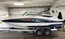 2010 Rinker Flotilla 228, Includes Full Mooring Cover, Flip-Up Bolster Seats, Snap-In Carpet, Depth Finder, Stereo w/ Speakers.Also Includes a Brand new Yacht Club trailerBeautiful boat!Great summer fun!Give us a call today for more information regarding
