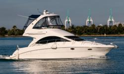Sea Ray 390 Sea Ray Sedan Bridge Only 390 Available in the US Cummins Diesels - 360 Hours Beautiful Interior with 2 Stateroom, 1 Head Layout Extended Swim Platform Raymarine Electronics with Autopilot Full Flybridge Enclosure SmartCraft