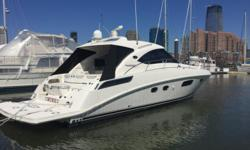 2010 47' Sea Ray Sundancer -- Low Hour Vessel in Excellent Condition -- Twin ZEUS Cummins QSB 480 Diesels w/ Joystick ControlLoaded with Upgrades: Teak Flooring in Helm Area, Underwater Lights, Satellite TV, Wood Flooring Throughout Cabin, Cockpit A/C +