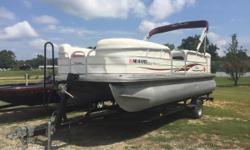 This is a very well kept pontoon. Don't miss out. The battery is 1 yr old, garage kept, and small dent on front (see photos).  Nominal Length: 21' Engine(s): Fuel Type: Other Engine Type: Outboard