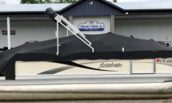 2010 Sweetwater 2186DF, Yamaha 60hp 4-S, Trim/Tilt, Minnkota PD 55#, Garmin Echo 200 @ Bow, Lowrance X50 @ Dash, 4 Fishing Seats, Livewell, Bimini, Stereo, Changing Room, Sundeck, Boarding Ladder, Table, Sink, Cover.