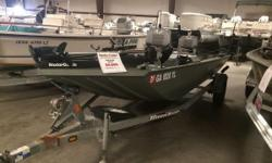 2010 TRITON 1550 SS YOUR PRICE INCLUDES: 07 MERCURY 9.9ELPT BF 4S 10 TRITON GALVANIZED TRAILER TROLLING MOTOR AND DEPTH FINDER INCLUDED 2 MINN KOTA 25# REMOTE ELECTRIC ANCHORS Nominal Length: 15' Length Overall: 15' Engine(s): Fuel Type: Other Engine