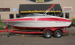 """2011 Crownline 21 SS, NEW 2012 model. Crownline 21SS with Mercruiser 4.3 MPI 220 HP Engine and Custom Heritage Trailer A Powerful Attraction! You will not go unnoticed skimming across the lake in this spirited bowrider. Crownline has taken the """"coolness"""""""