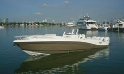 This beautiful 36' Deep Impact 36' Cabin 2011 is super fast and nearly brand new. Located in Miami Beach, it is easy to see. Under 50 hours. Lift Kept. Fully equipped boat with Gen, AC, DVD, Microwave, Cooktop, Fridge, Icemaker, Sunpad, Real