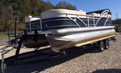 THE GREAT OUTDOORS MARINE - THE FUN STARTS HERE! 2011 AQUA PATIO 240 AD - BLUE 2011 HONDA 150 HP 4-STROKE OUTBOARD (384 hours) 2011 TANDEM AXLE TRAILER W/ BRAKES Docking Lights Aft Swim Platform Rear Boarding Ladder Bimini Top Mooring Cover Reclining