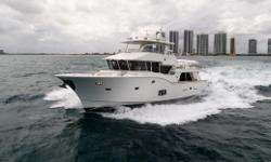 $50,000 PRICE REDUCTION  This 2011 Argos 70 Gulfstream was Built by Tricon Marine that builds up to 125' yachts. Designed by renowned naval architect Howard Apolliono and built for challenging seas and frequent Gulf Stream crossings. Argos 70