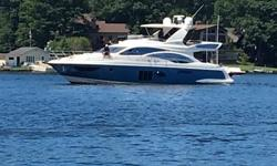 New to the market, one owner, 100% fresh water and open check book maintained. This very clean 58' is well equipped, including a Sea Keeper gyro stabilizing system, full Ray Marine electronics on the upper and lower helms, bow and stern thrusters and all