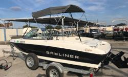 One Owner, Marine Dry Storage Kept The 174 SF was designed to afford roominess, fuel efficiency and performance. But the first thing you'll notice is the hefty supply of family- and fishing-friendly features. Bayliner's beam-forward design carves out a