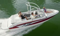 The 185 knows the way to fun and sun. It gets you there with two comfortable and convenient seating arrangements, astounding spaciousness, a sleek, no-glare dash with tilt steering wheel, and a host of options like an extended swim platform and Bayliner's