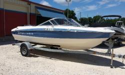 Harbor View Marine brings you this 2011 Bayliner 195 Bowrider with a Mercruiser 4.3L engine in Pensacola, FL..BlueHull Color, Bimini Top, and Marine Stereo with Ipod Input. It is powered bya 6cylinder Mercruiser 4.3L, seating for 8 or 9