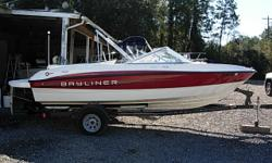 18 FT Bow Rider, 2011 4.3 LTR Mercruiser, Bimini Top, Bow and Cockpit Covers, Stereo, Depth Sounder, 2011 Bayliner Single Axel Trailer, Fresh Water Boat, Excellent Condition Beam: 7 ft. 7 in. Depth fish finder; Boat cover; Stereo; Bimini top;