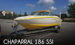 Actual Location: Tampa, FL - Stock #075136 - **Like New Condition** Way below market value**The Chaparral 186 is a fantastic family boat that is compact enough for easy towing yet still has a capacity of 9 people. The robust 4.3 liter engine has plenty of