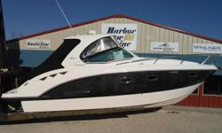 ** 2011 Chaparral Signature 330 with twin Mercruiser 350 MAG DTS Bravo III 300hp ** Installed options ** 1 owner boat low 125 hours ** 22 inch tv with power swing arm mount in forward bed ** Vacu flush head ** Fireboy fire system ** Lenco Trim Tabs ** On