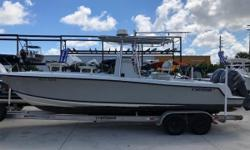 Available in Store: Fort Lauderdale Lets begin by saying THIS boat catches fish! In true Contender tradition, this machine has everything the hard core fisherman needs to get on the bite. With the twin Yamaha 250's, you can get on the fish fast. And