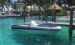 The 235 SS features Crownlines sports car style lines and a safe comfortable ride. The side profile features stainless steel blower vents and eye-catching stainless steel accents. The oversized, fully integrated swim platform has a soft touch mat to
