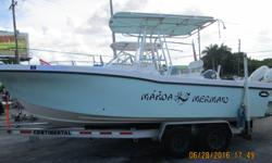 Price Reduced to $ 39,900.00 This Custom 233 Dusky Twin Engine Center Console, Powered by Twin 150 HP Evinrude E-TEC's is Ready to go! This Boat is Loaded to handle all of your Fishing Needs Beam: 8 ft. 6 in. Fuel tank capacity: 100 Hull color: SEA FOAM