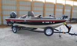 Ready For The Water - Call Today For More Details! Comes equipped with a Minn Kota 55 lb. thrust Power Drive V2 trolling motor, a Lowrance Mark 5 fish finder, spare tire, and boat cover. The Angler V 167 C offers unique features not normally associated
